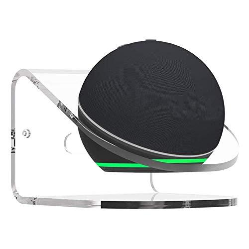 Elyco Supporto da Tavolo per Echo DOT 4ªgenerazione, Supporto a Muro Robusto Acrilico Trasparente Supporto per Montaggio a Parete Accessorio Compatibile con Echo DOT 4nd Gen