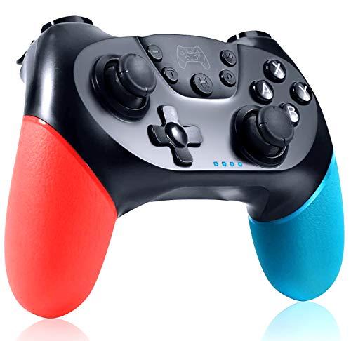 ELYCO Wireless Controller per Nintendo Switch, Bluetooth Switch PRO Controller Switch Joystick Gamepad con Turbo Regolabile Dual Shock Gyro Axi Compatibile con Switch/Switch Lite