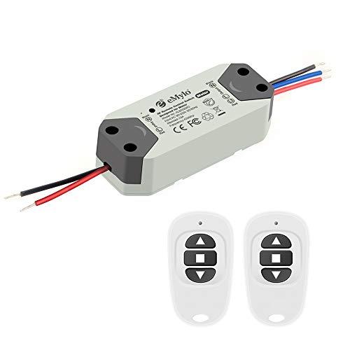 eMylo RF Motor Controller Switch Smart Wireless relè RF 220V Motore interruttore di controllo remoto 90V-250V per porta scorrevole/tenda elettrica/pompa acqua Motore di controllo in avanti/retromarcia