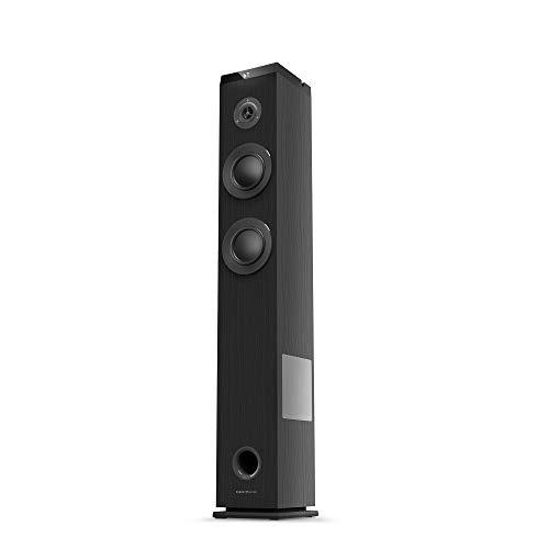 Energy Sistem Tower 5 g2 (65 W, Bluetooth 5.0, True Wireless Stereo, Radio FM, USB/MicroSD MP3 Player, Audio-In) - Nero