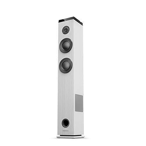 Energy Sistem Tower 5 g2 (65 W, Bluetooth 5.0, True Wireless Stereo, Radio FM, USB/MicroSD MP3 Player, Audio-In) - Bianco