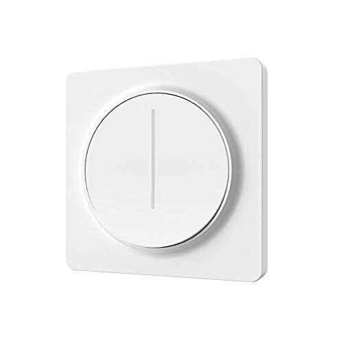 ENERJ ENEJ WiFi Smart Dimmer Switch 1 Gang, Interruttore Intelligente dimmerabile LED Compatibile con Alexa per luci e lampadine, Bianco