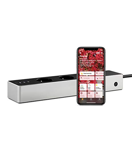 Eve Energy Strip - Presa tripla intelligente e misuratore di energia con protezione da sovratensione e sovracorrente e tecnologia Apple HomeKit