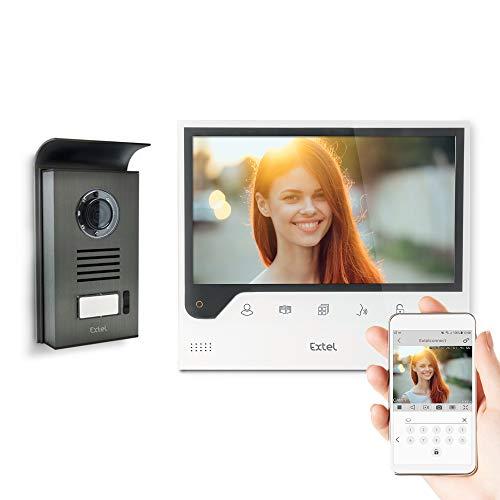 Extel - Videocitofono Connect con schermo grande (18 cm) e connesso a smartphone Android o Apple