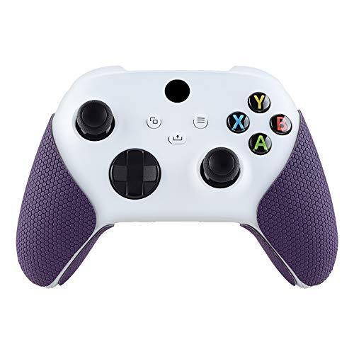 eXtremeRate PlayVital Grip Adesivo per Xbox Series X/S Controller Impugnature Maniglia Skin Antiscivolo per Xbox Series X/S Joystick(Viola)