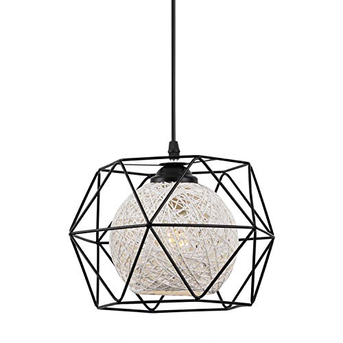 EYLM Lampada a Sospensione Vintage E27 Lampadario Industriale Retro con LED lampadina,Adatto per Cafe, Bar, Cucina, la Sala da Pranzo e Camera da Letto [Classe di efficienza energetica A+]