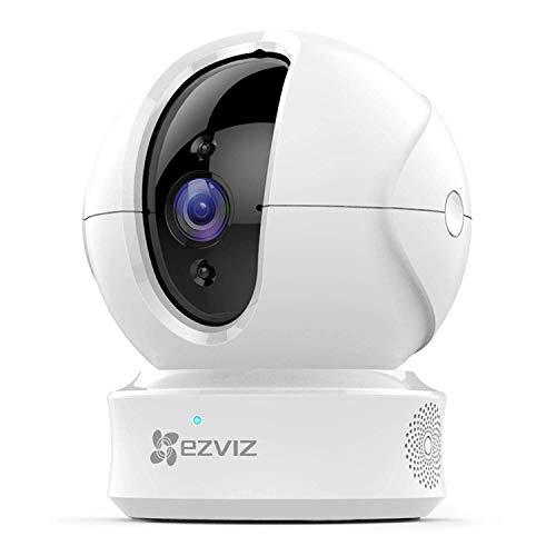 EZVIZ C6CN 1080p Telecamera di Sorveglianza, 360° WiFi Videocamera Interno, Audio Bidirezionale, Maschera Intelligente della Privacy, Tracciamento del Movimento, Cloud, Compatibile con Alexa