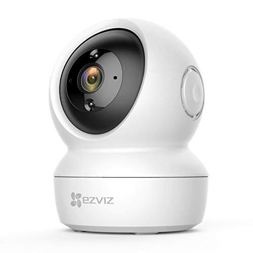 EZVIZ C6N Telecamera Wi-Fi Interno 1080p Videocamera Sorveglianza da Interno Pan/Tilt/Zoom Compatibile con Alexa, Rotazione a 360°, Visione Notturna, Tracciamento del Movimento e Audio Bi-direzionale