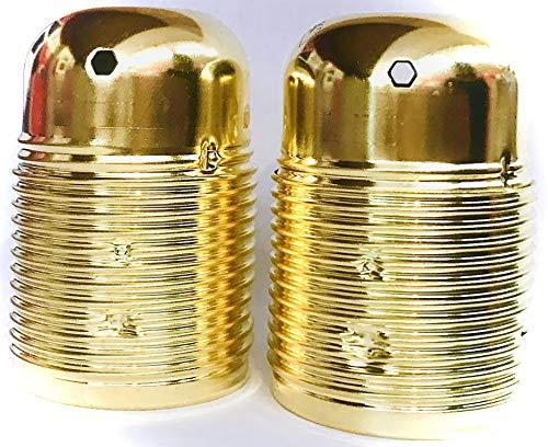 Faeg Set 2 portalampade in metallo ottone E27 filettati