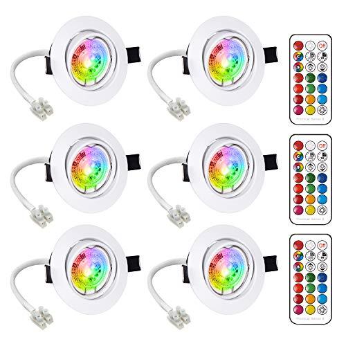 Faretti LED da Incasso Cartongesso Plafoniere LED Soffitto Orientabile Luce Bianco Caldo 6W Pari a 50W 2700K Angolo a Fascio 120 Gradi AC 85-265V