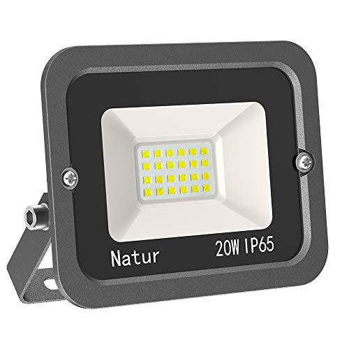 Faretto 20W Fari LED per Esterno 3000K Bianco Caldo Proiettore Moda Leggero, Faro Impermeabile IP65 per Giardino Cortile, Lampada Luce Potente Super Luminosa [Classe Energetica A++]…