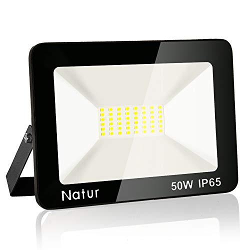 Faretto LED da Esterno 50W, Fari di sicurezza,Lampada Luce Potente Bianco Caldo (3000K) Faro Impermeabile IP65 per Giardino Cortile,[Classe di efficienza energetica A++ ]