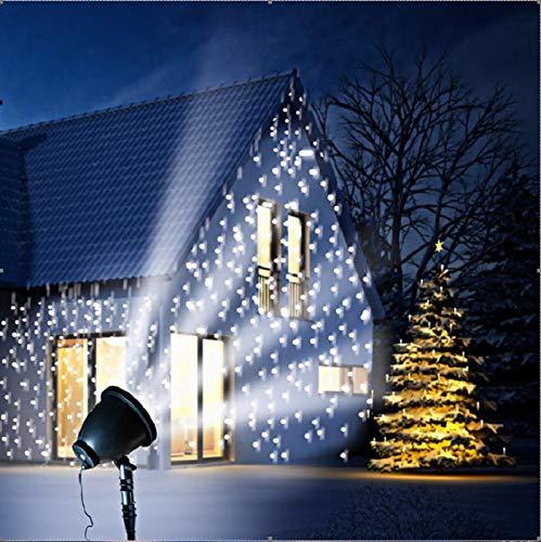 """Faretto LED """"fiocchi di neve"""" – Faretto con testa snodata per illuminazione ampia – Resistente alle intemperie – Ø 14 cm H 37 cm – incl. picchetto – spina IP44 – Lunghezza cavo 3 m"""