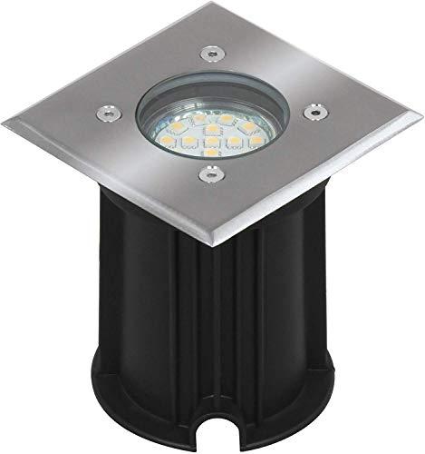 Faretto Segnapassi Smartwares 5000.459 Luton, Capacità di Carico di 800 kg, Attacco GU10, led, elettricità, presa elettrica tipo maschio, acciaio