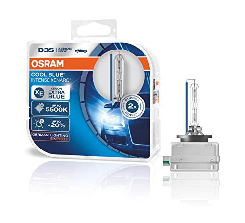 Faro allo xeno OSRAM XENARC COOL BLUE INTENSE D3S HID, lampada a scarica, 66340CBI-HCB, Duobox (2 pezzi)