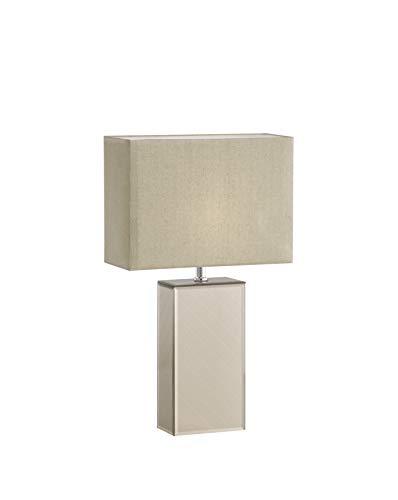 Fischer & Honsel Bert - Lampada da tavolo in vetro, 40 W, colore: Oro