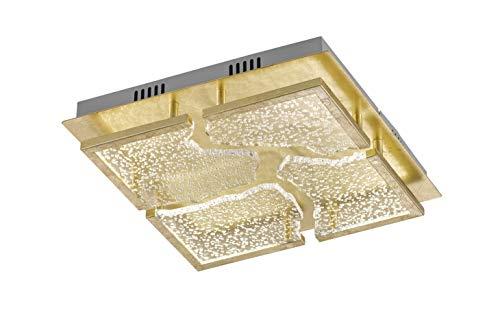 Fischer&Honsel Elay - Plafoniera in metallo, 4,5 W, colore: Oro foglia