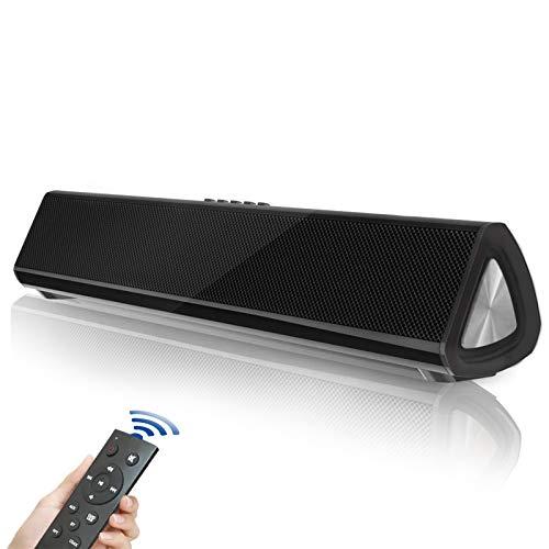 Fityou 【Versione Innovazione】 Soundbar TV, 5.0 Bluetooth Altoparlante, Soundbar Suono Surround Home Theater Bluetooth per TV, PC, Mobile, Suono Potente, RCA/AUX/Bluetooth, con Telecomando