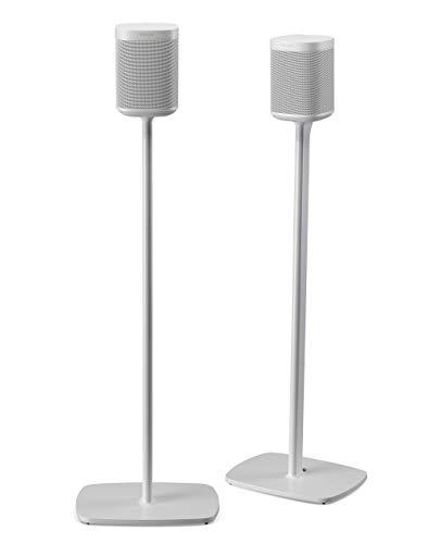 Flexson Supporti da pavimento per Sonos One, One SL e Play:1 - Bianco (Paio)
