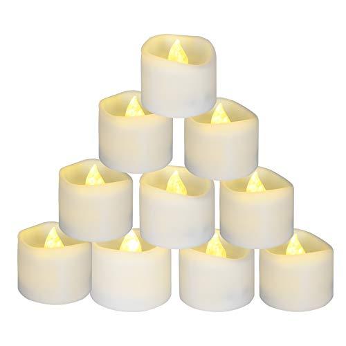 flintronic 12 Lumini Candele LED, Candele Senza Fiamma con Batterie Adatte per Decorazione di Casa Camera Natale Pasqua Festa Di Matrimonio – Bianco Caldo