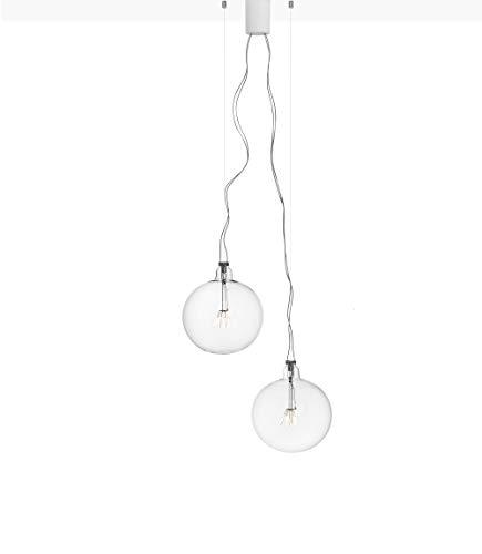 Flos Bulbo - Lampadario a sospensione con cristalli, 6 W, colore: Bianco