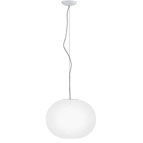 Flos GLO Ball S2 ECO EU BCO, Vetro, Bianco, 45 x 36 cm