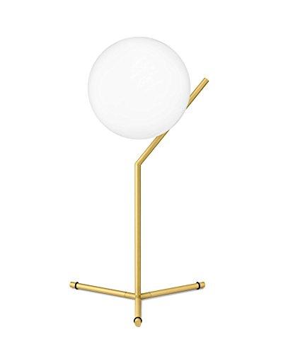 Flos IC T1 High Lampada, E14, 60 watts, Bianco /Ottone
