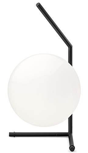 Flos IC T1 - Lampada da tavolo in acciaio, 60 W, nero, 176 x 176 x 381 mm