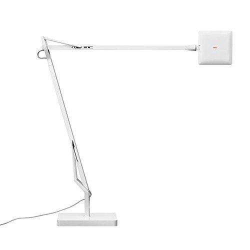 Flos Kelvin Edge Lampada da Tavolo con Base, 8 watts, Bianco