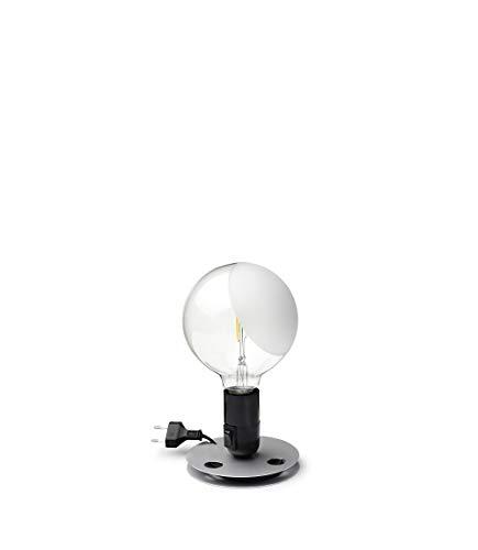 Flos LAMPADINA LED EU NRO, Alluminio, Nero, 12,5 x 24 cm