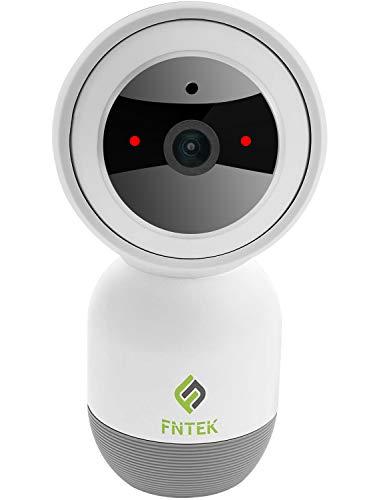 FNTEK Smart Telecamera di Sicurezza WC017 da Esterno e Interno per Video Sorveglianza dotata di Wi-Fi - Risoluzione 1080P Impermeabile Tracking Intelligente Controllo Vocale Alexa e Google Home