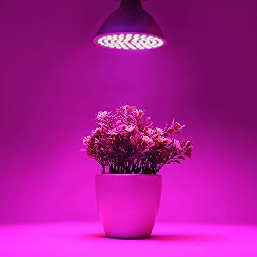 Frcolor - Lampada a LED, Con Attacco E27, da 6W, 72 Luci Led, per crescita delle piante, per interni o esterni come giardino, per Coltivazione Idroponica
