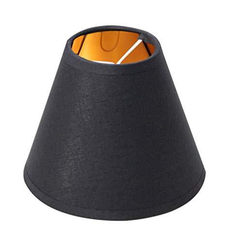 Frcolor, lampadario in stile retrò, piccolo paralume in tessuto, per lampada da tavolo e da terra, ristorante, hotel (nero)