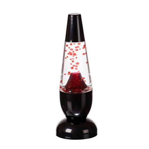 Funtime Gifts - Mini lampada a LED a forma di vulcano lavico, integrata, 4,5 W, colore: Rosso