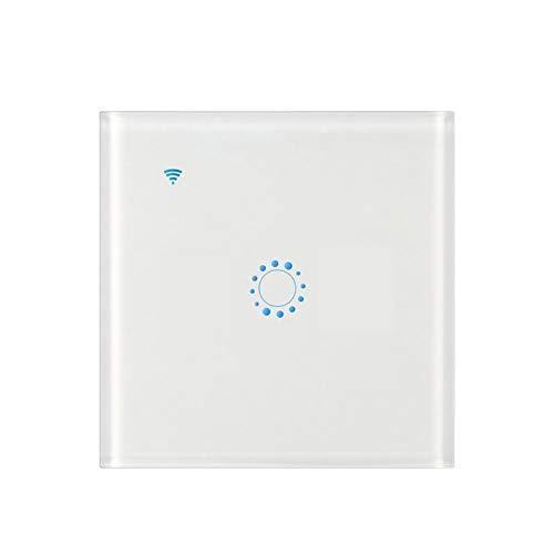 Galapara - Interruttore Luce WiFi Smart per Alexa e Smartphone, Compatibile con Alexa Echo Google Home Assistant Control App Touchable Light Switch 1 Marcia, Bianco.