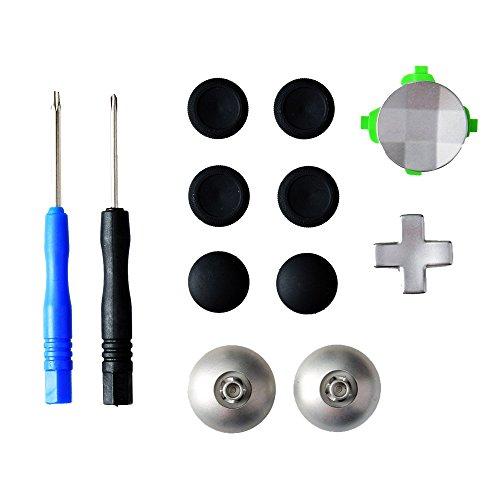 Gam3Gear 11 in 1 della lega del metallo analogico Thumbstick D-pad direzionale Button Set per XBOX One Elite Regolatore con attrezzo aperto