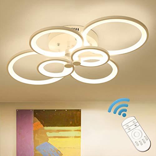 Ganeed Plafoniera a LED, lampadari acrilici moderni 72W, lampada da soffitto dimmerabile a 6 teste con telecomando, lampadari contemporanei per cucina camera da letto della sala da pranzo, 3000-6500K