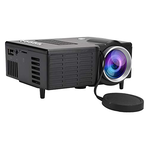 Garsent Mini proiettore, Full HD 1080P videoproiettori Portatili con 20.000 Ore di Durata della Lampada Supporto USB, HD, SD, AV, VGA proiettore LED per Smartphone, Tablet, TV, PC, Xbox, ECC.(Nero)