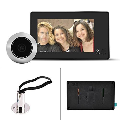 """Garsent Spioncino Digitale, 4.3"""" HD 1MP LCD Smart Digital Door Peephole Viewer con Angolo di 140 °, Alimentato da Batteria o Power Bank, Telecamera di Sicurezza Monitor per la casa."""