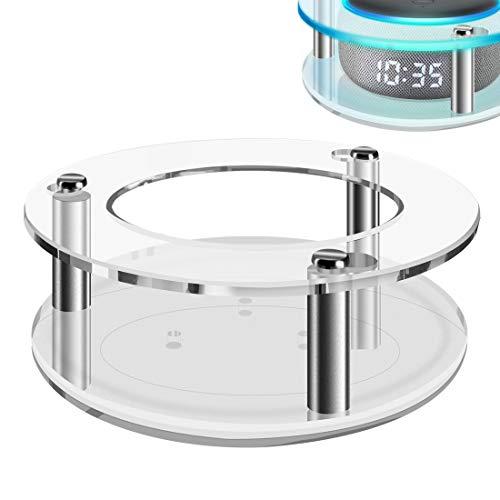 Geekria - Custodia in acrilico trasparente per Echo Dot (3a generazione) con orologio, montaggio a parete per altoparlanti, supporto stabile, utilizzato per tutti i nuovi modelli di Amazon Echo Dot