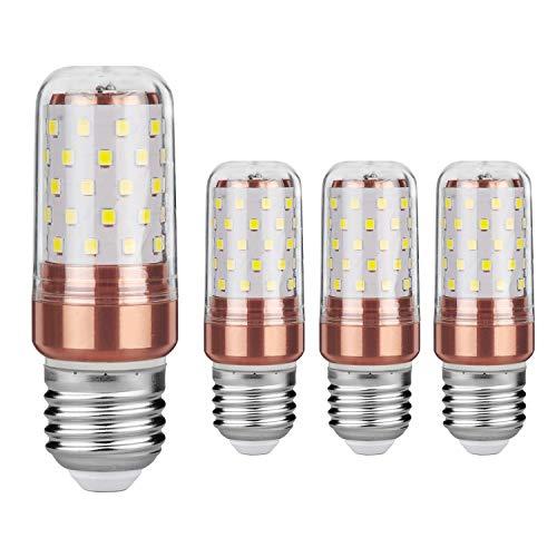 Gezee Lampadine LED 12W E27 mais LED Small Edison Screw Equivalente a 100W 1200Lm Non Dimmerabile 3000K Bianca Calda Lampadine a candela(4 pezzi)