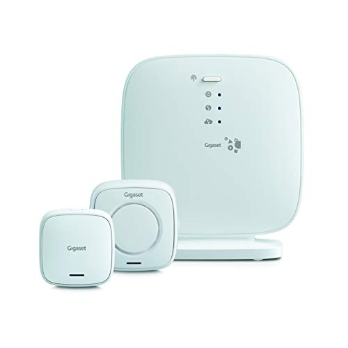 Gigaset l36851 W2551 14-B111 Elements Security Pack – Sirena di allarme/sensore porta Funziona con Alexa, Bianco [Germania]