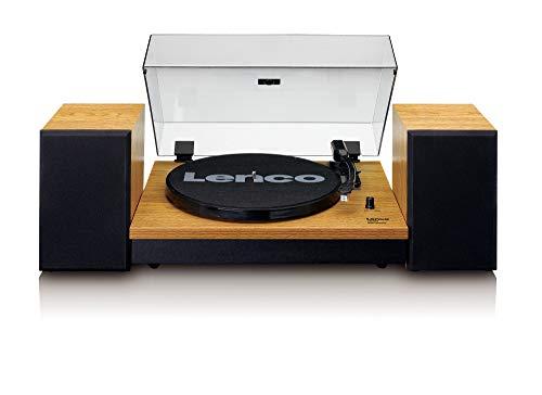 Giradischi Lenco (Ls-300 Wood) Con Diffusori Acustici Inclusi,Bluetooth Traz,