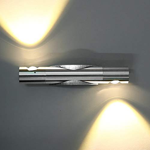 Glighone 6W LED Applique da Parete Interni 360 ° Rotazione Lampada a Muro Applique Moderne in Metallo per Soggiorno Camera da Letto Salotto Scale, Bianco Caldo