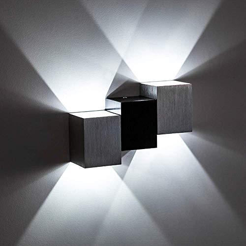 Glighone Applique da Parete Interni Lampada a Muro Applique LED Moderne in Metallo 6W per Decorazione Soggiorno Camera da Letto Bagno Colore Bianco Freddo