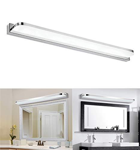 Glighone Lampada Specchio Bagno 14W Lampada da Specchio a LED 62cm Illuminazione Moderna per Bagno Luce Impermeabile per Trucco Decorazione Bianco Freddo
