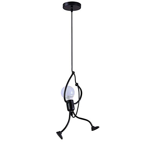 Goeco Ferro Lampadario Soggiorno Lampada a Sospensione Vintage, E27 Creativi del Lampadario Camera Letto Moderno, lampadina non inclusa [Classe di efficienza energetica A]