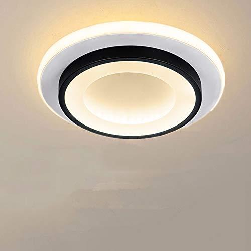 Goeco Plafoniere da Soffitto LED 20W, Plafoniera LED Moderna Rotonda, per Corridoio Scala Soggiorno Camera da Letto, Ø24cm * H5cm, 3000K-6500K (3 Temperature di Colore)