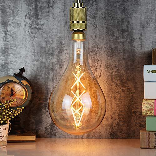 Grande lampadina Edison PS52 A160 lampadina a filamento LED dimmerabile 6 W colore ambrato E27 220 V Lampadina decorativa