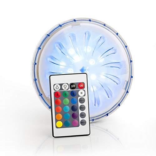 Gre PLED1C - Proiettore LED Color per Piscina Fuori Terra in Acciaio, 1,8 W